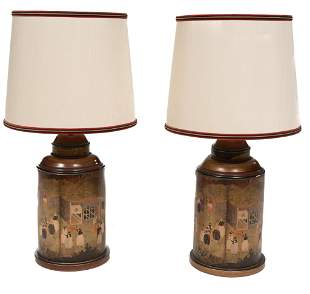 Pair of Korean-Style Figural Table Lamps