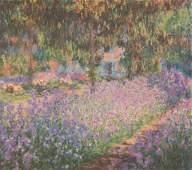 Impressionist Floral Landscape Giclee on Canvas