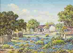 Orville Campbell (1903-1987), Bluebonnet Farmhouse