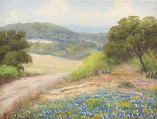 Pedro Lazcano (1909-1970), Hill Country Bluebonnets