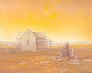 "Carl J. Smith (b. 1928), ""Dawn on the Prairie"""