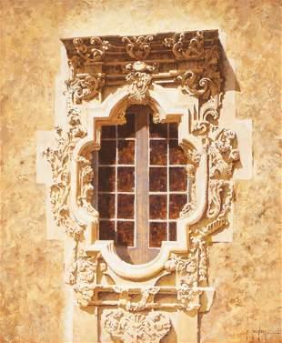 Randy Peyton (b. 1958), Rose Window at Mission San