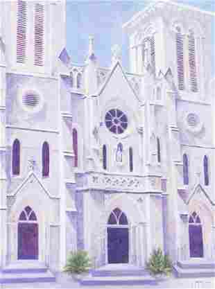 "Randy Peyton (b. 1958), ""San Fernando Cathedral Study"""