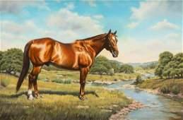 Cheryl Lynn (20th C.), Horse Portrait, 1999