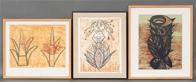 3 Mexican Serigraphs 67/120: Lenero,Hernandez, Turnbul