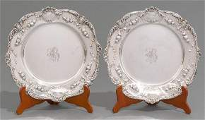 Pair of Early Gorham Sterling Silver Chargers