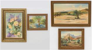 Grace Dermody (b. 1889), Group of 4 Paintings, oil