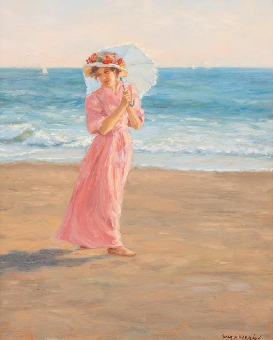 "Greg F. Harris (b. 1953), ""Sea Winds"", c. 1980, oil on"