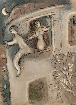 """Marc Chagall (1887-1985), """"David Saved By Michal"""""""