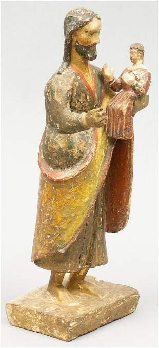 18th C. New Mexican Folk Art Santos, Saint Anthony