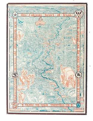 San Antonio Conservation Society 1926 Map