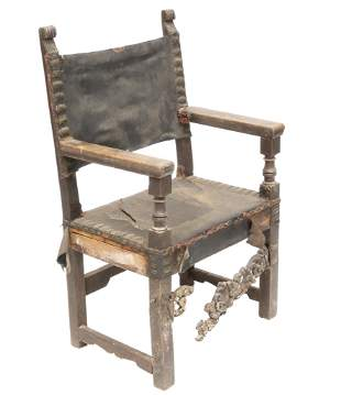 Spanish Colonial Era Leather Chair