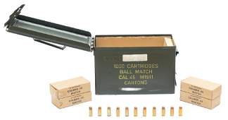 1000 Rounds of TZZ 88 M1911 .45 Ball Match Ammunition