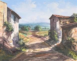 """Jose Vives-Atsara, """"Casas de Campo, Catalonia, Spain"""""""