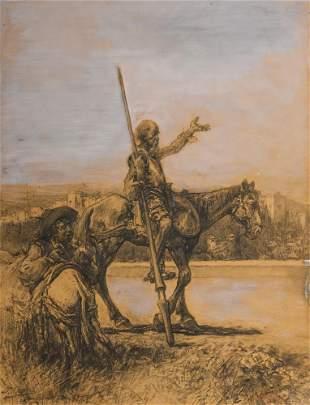 Jose Arpa (1858-1952), Don Quixote and Sancho Panza