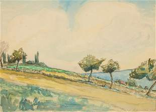 Mary Bonner (1887-1935), Provincial French Landscape,
