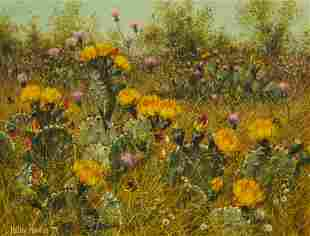Helen Hunter (1920-2003), Prickly Pear and Thistle