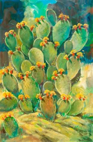 """Hardy Martin (b. 1942), """"Cactus in Bloom"""""""