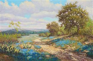Robert Harrison (b. 1949), Bluebonnets On the Road