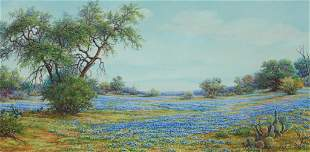 "Exa Wall (1897-1972), ""Bluebonnet Solitude"""