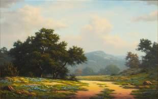 Mark Pettit (b. 1957), Hazy Hill Country Summer, 1984