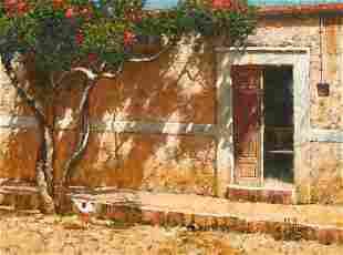 """George Hallmark (b. 1949), """"Vecina De Al Lado"""", 2002"""