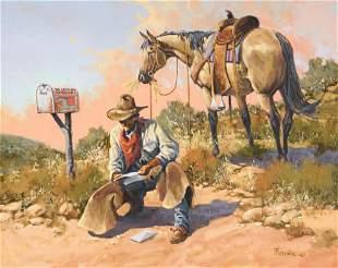 "Gary Jack Thornton (b. 1941), ""Grandpa's Letter"""