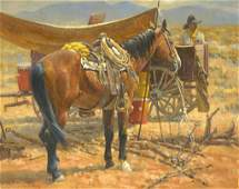 "Wayne Baize (b. 1943), ""Around the Water Wagon"", 1990"