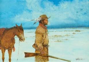 """Raul Gutierrez (b. 1935), """"Mountain Man"""""""