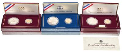 US Gold Silver Comm. Olympic And Constitution Sets