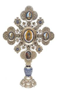 Jesus Guerrero Santo Altar Cross, Our Lady of Guadalupe