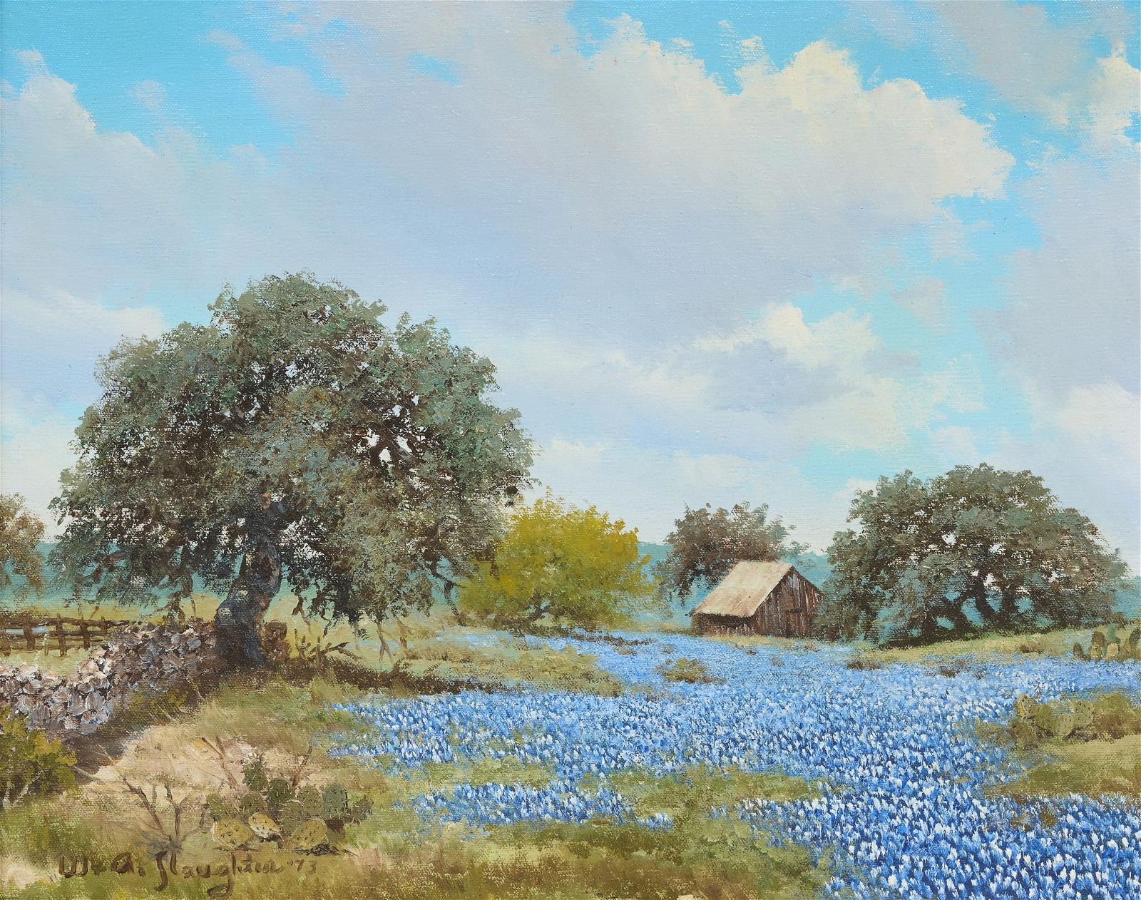 William A. Slaughter (1923-2003), Field of Bluebonnets,