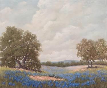 Vivian Love (1908-1982), Texas Bluebonnet Pasture