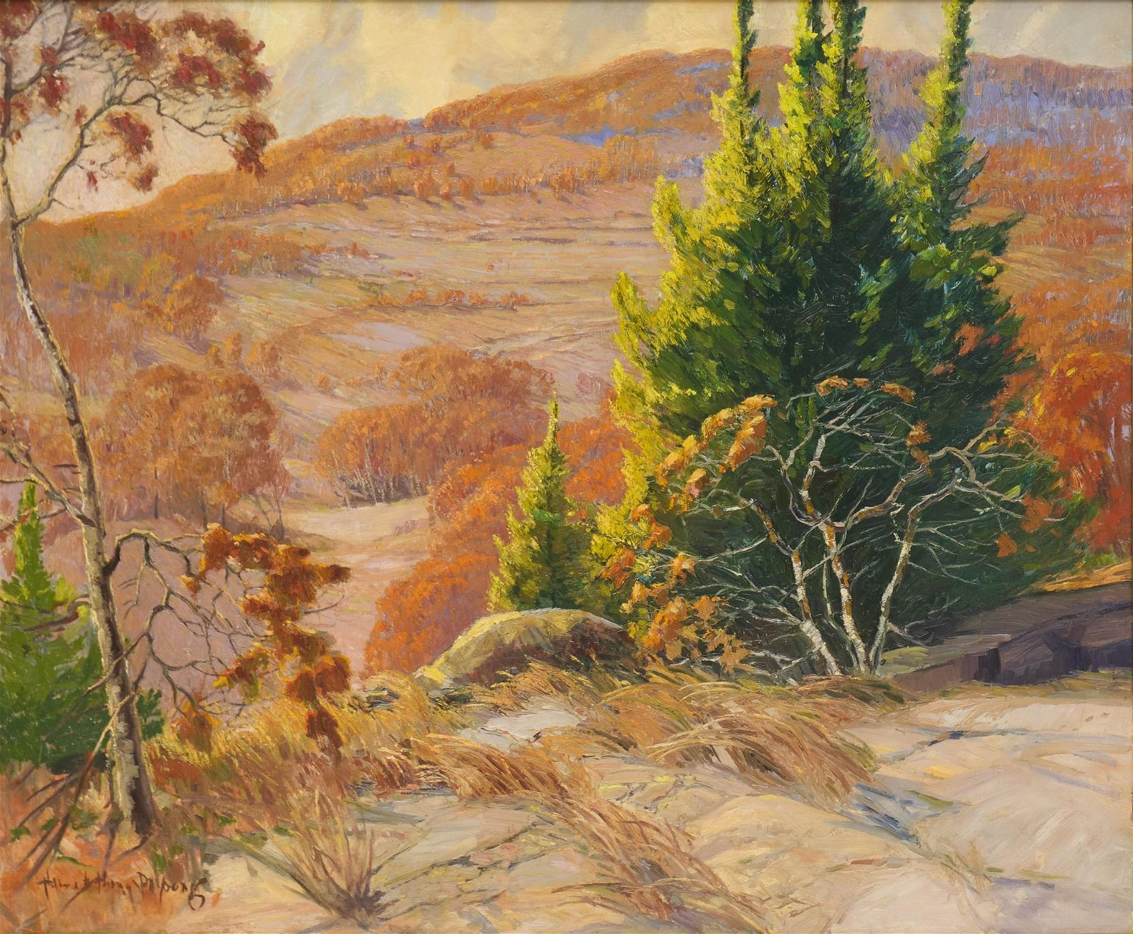 """Harry Anthony DeYoung (1893-1956), """"Autumn at Boerne,"""