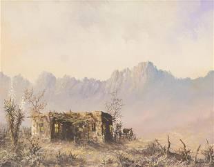 Lester Hughes (b. 1940), Mountain Pueblo, 1989