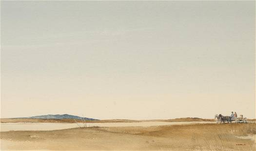 """Morris Rippel (1930-2009), """"Hauling Water"""", 1966"""