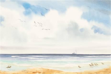 John L. Carter (b. 1937), Coastal Scene