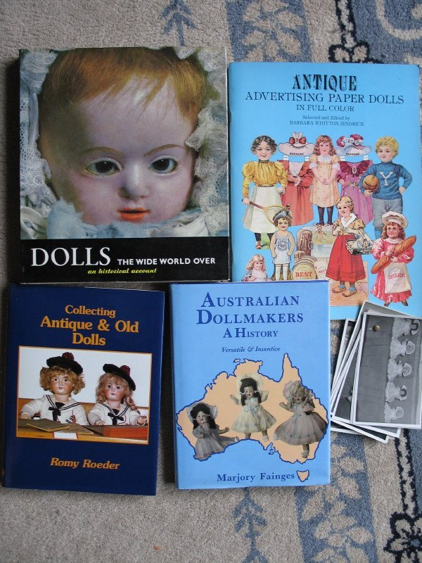 24. Three doll books:- Aust Dollmakers, Antique/Roeder,