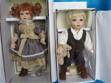 290. Three 28cm MIB L/Ed. Hillview Lane porcelain dolls