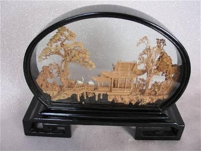 Three Chinese San You Cork Diorama. Chinese scenes