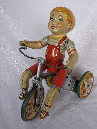 USA Unique Art Manufacturing Co 'Kiddy Cyclist' 1930s