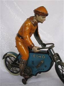 Rare USA Lehmann 'Echo 725' clockwork motorcyclist