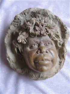 Australian Pottery William Ricketts wall plaque.