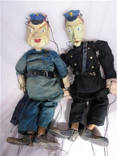 Four Antique USA Marionettes c1900s. Papier Mache/wood