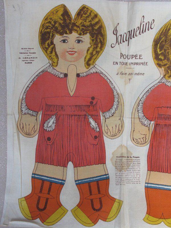 """Two Dean's Rag Book Co 1910-20 """"Jacques & Jacqueline"""""""