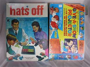 Vintage six boxed Kids Games:- Magic Robot, Chad Valley