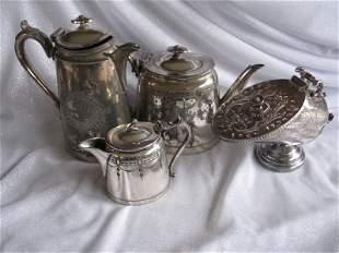 Britannia EPBM tea set ware:- Sheffield sugar cube