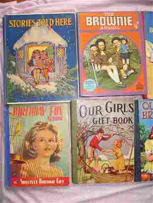 Mixed Boy/Girls vintage books:- 1972 Brownie Annual,