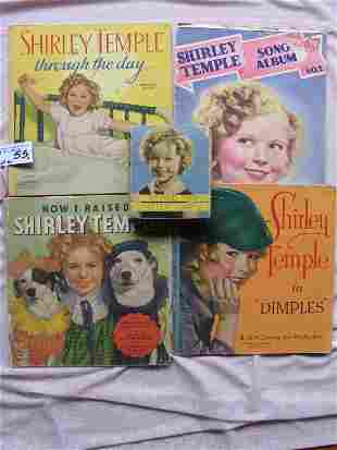 Five Shirley Temple 1930s books:- Dimples, Through The