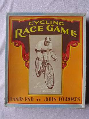 """Scarce """"Cycling Race Game"""" c1934 board game. Lands End"""